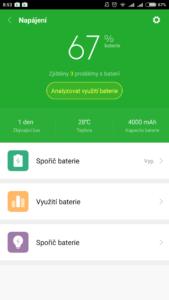 Baterie telefonu Xiaomi Redmi 4 PRO po 24 hodinách použití