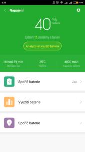 Baterie telefonu Xiaomi Redmi 4 PRO po 36 hodinách použití