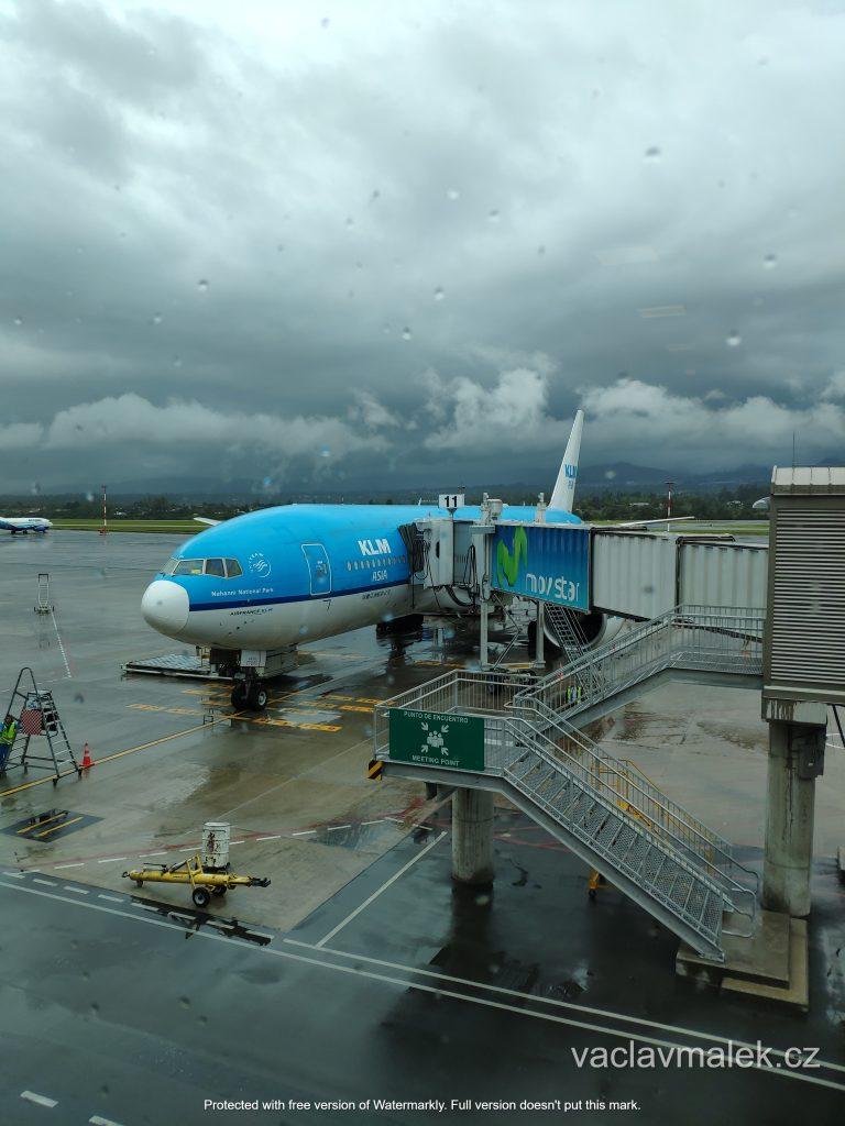 Letiště v Quitu po cestě s KLM