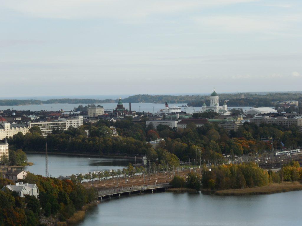 Pohled z věže olympijského stadionu v Helsinkách (2014)